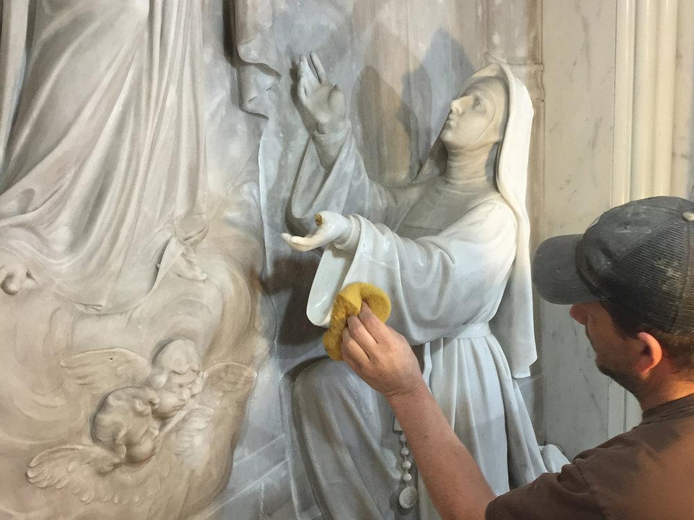 Stone polishing -