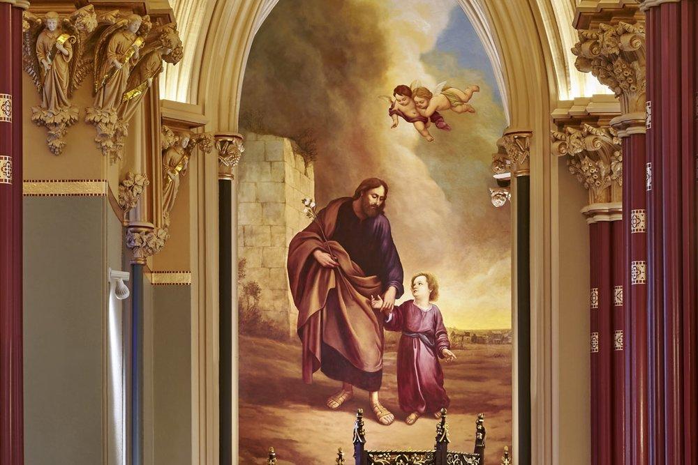 Saint Joseph Mural Installed