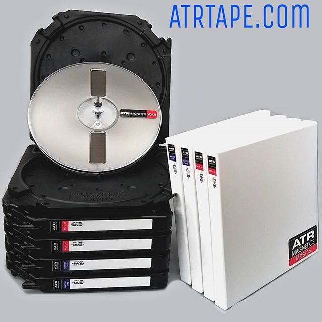 "Same delicious tape, cooler boxes.. 7"" Tape Care Box or 7"" White Cardboard - your choice! #homerecording #reeltoreel #7inch #analog #tape #atrtape #mastertape #longplay #mds36 #instock #analogtape #tapedeck #nothingsoundsliketape #atrmagnetics"