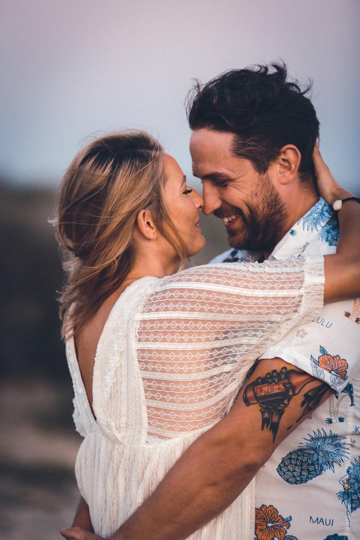 wedding photographer mallorca dominic lula couple nose touching couple photoshoot engagement session