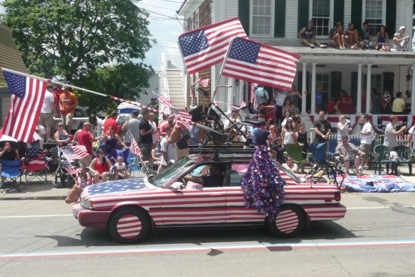 You can NEVER be too festive at Bristol's 4th of July Parade