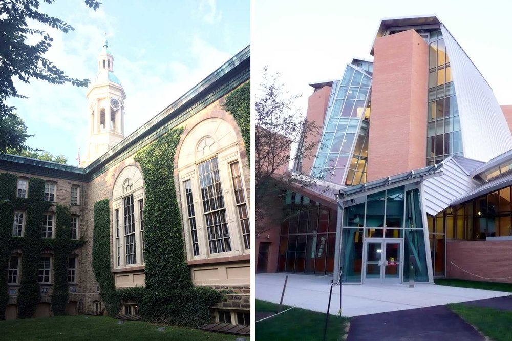 Nassau Hall & Lewis Library, just a few of many notable buildings on Princeton's campus