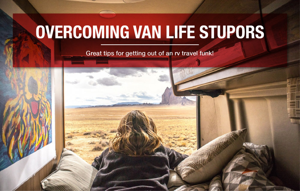 Great tips for getting out of an RV travel funk!  It's raining, it's freezing, you're always driving, you miss your family and friends, you're overwhelmed, you're dirty, you're struggling to meet your everyday living needs, and your rig needs attention. You start to feel the dark cloud looming…  04/25/18