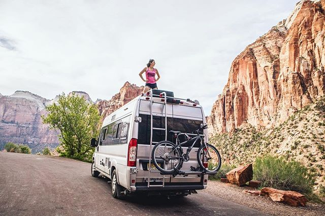 The view from the top is always the best 🚐🏃‍♀️💨 . . . . . . . . . . #vanlife #van #travato #travatolife #winnebago #winnebagolife #travel #adventure #adventuretime #adventureawaits #lifegoals #alwaystravel #picoftheday #photooftheday #adventurephotography #adventurephotoshoot #boondocking #Zion #zionutah #utah #camping #peace #perfectshot #beautiful #perfectday #perfectspot #hiking #angelslanding #bestview