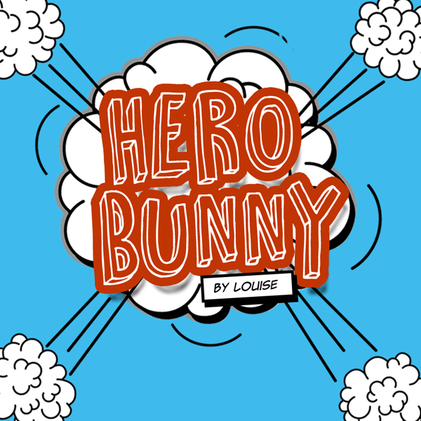 HERO BUNNY by Louise  You are Hero Bunny, and it is your job to protect all the bunnies from Swiper the Fox.  How to play:  Explore the warren and knock on doors. Find 4 carrot to complete the first level. Use the carrots to throw at Swiper!