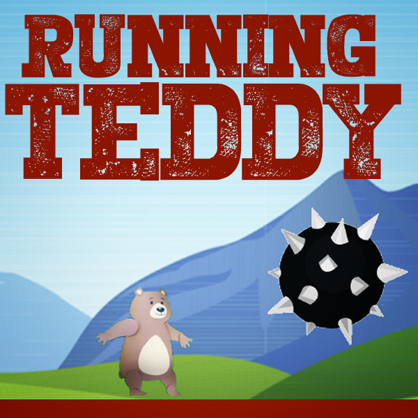 RUNNING TEDDY  Belfast Design week with The Ulster Museum and Blick Studios. A one off one day workshop designed to inspire and ignite an interest in making your own games delivered to a group of 8 - 12 years olds.  Hit space to start, and again to jump.