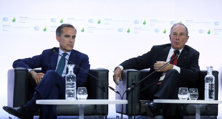 Mark Carney, Chair Financial Stability Board (FSB) L with Michael Bloomberg, Chair FSB TCFD  Source: FSB TCFD, London, UK