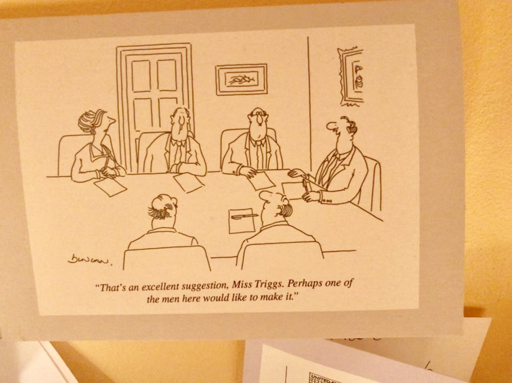 Thanks to The New Yorker - and in prominent view in my home office.