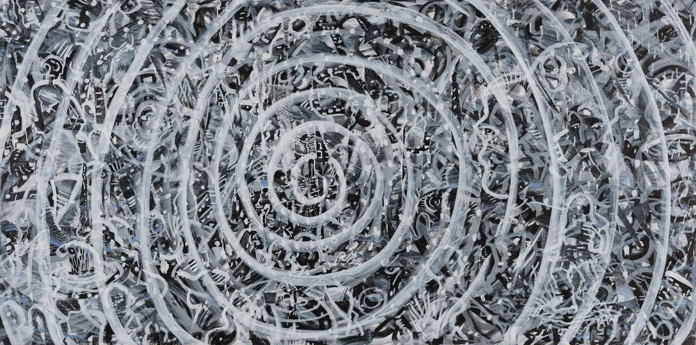 """Medium: Acrylic on canvas  Dimension: 12""""H x 36""""W"""