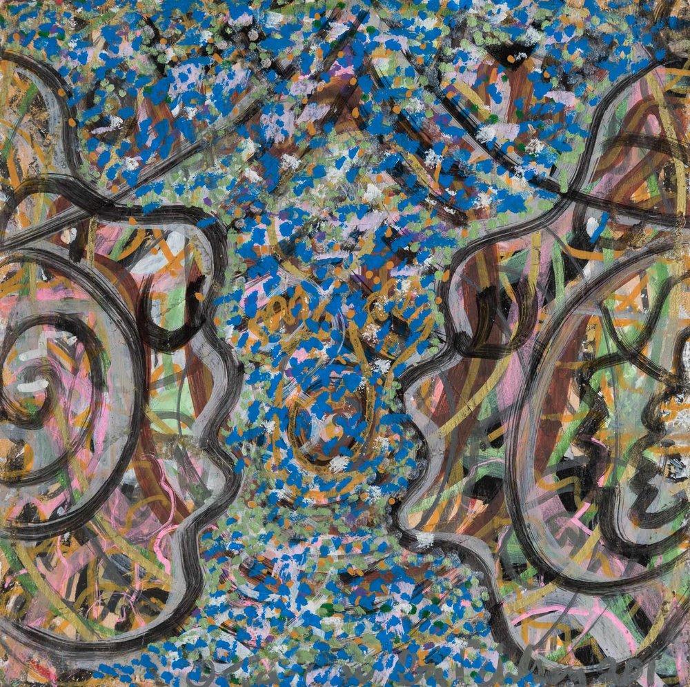 """Medium: Acrylic on canvas  Dimension: 6""""H x 6""""W"""