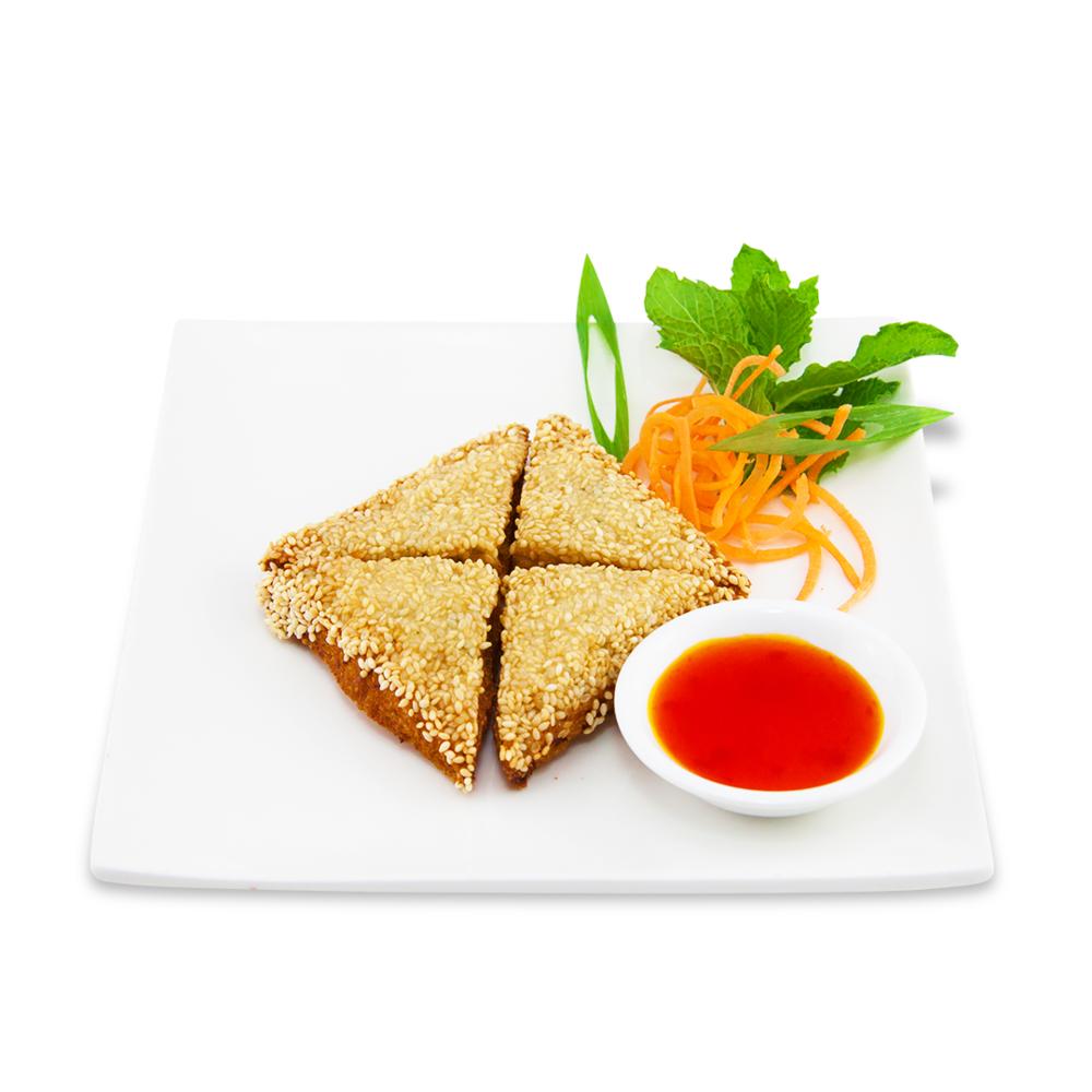 Crispy shrimp pancakes -