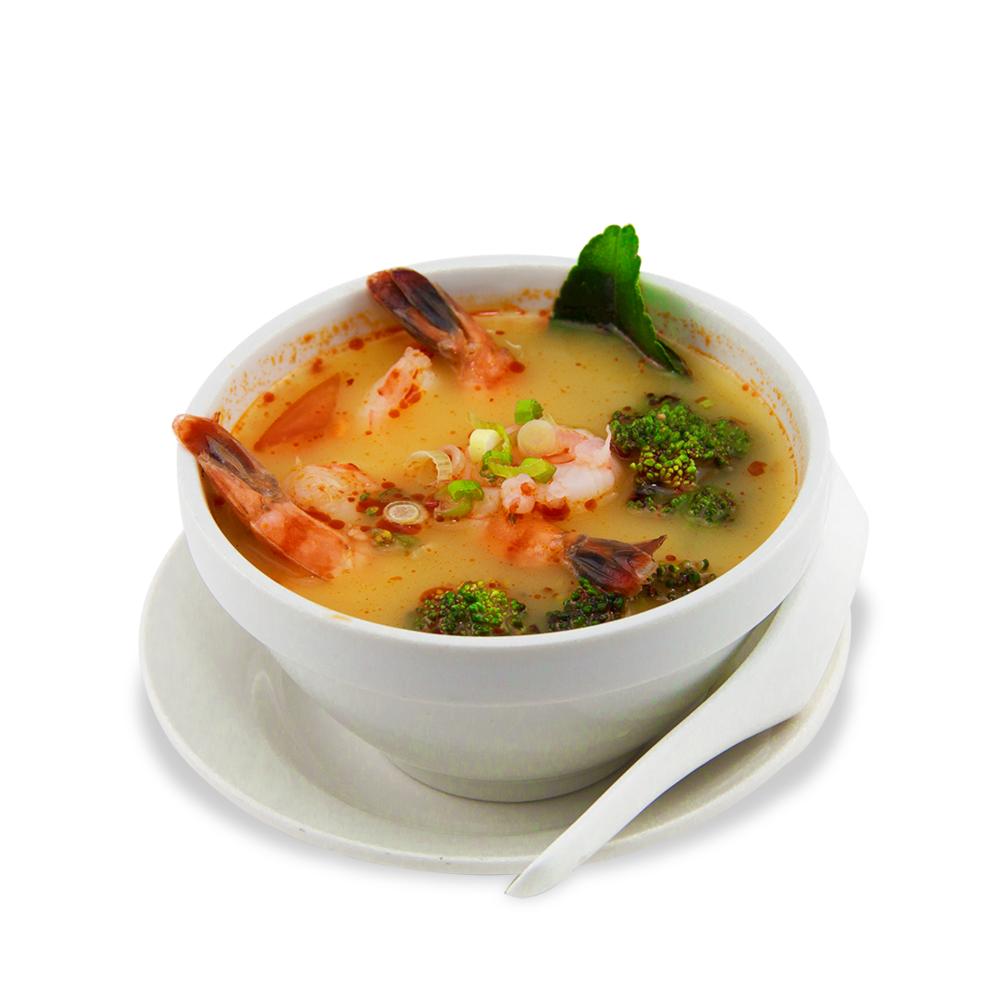 Tom yum - A ) Vegetables B ) Chicken 5C ) Shrimps