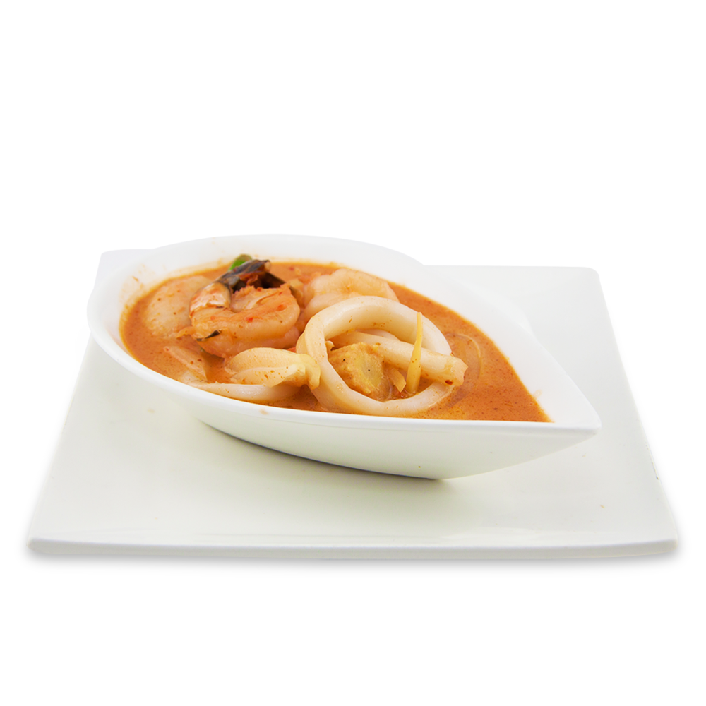 Red curry - A ) VegetablesB ) ChickenC )BeefD ) DuckE )Seafood