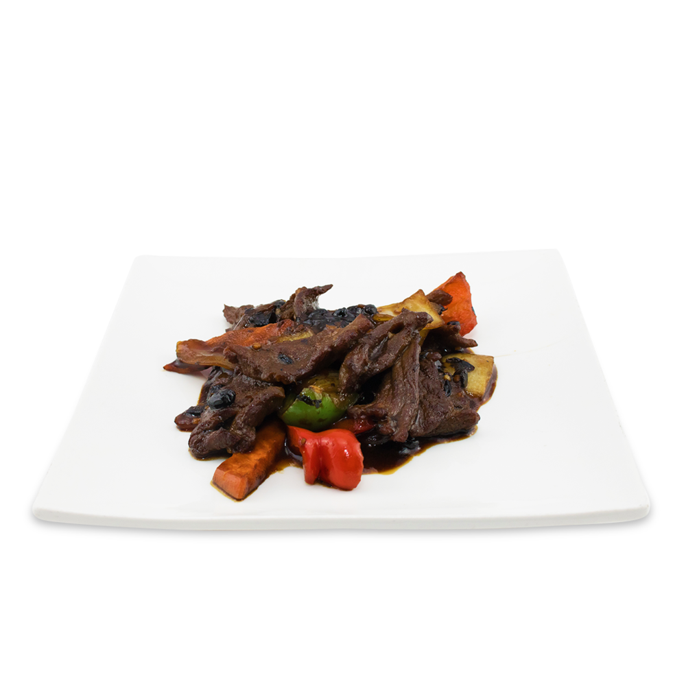 Beef with black bean sauce -