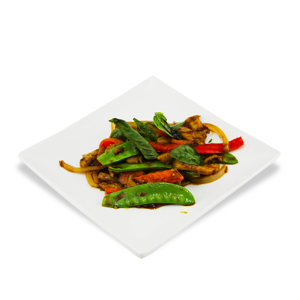 Chicken basil with lemongrass -