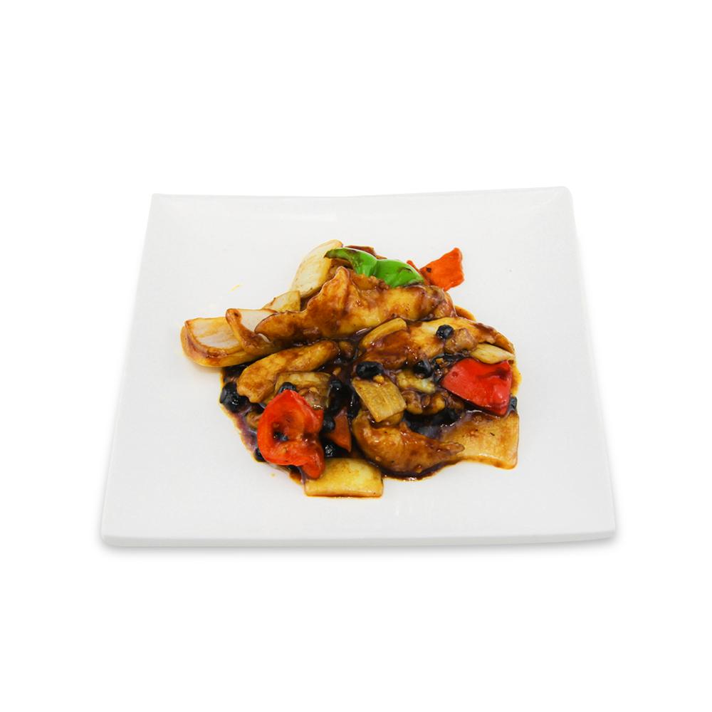 Fish filet with black bean sauce -