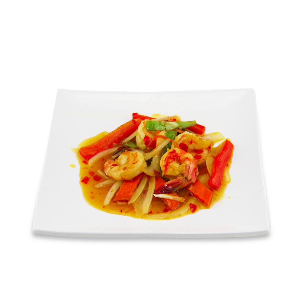 Crevettes à l'arc-en-ciel * - (Sauce aigre-douce à la thaï)