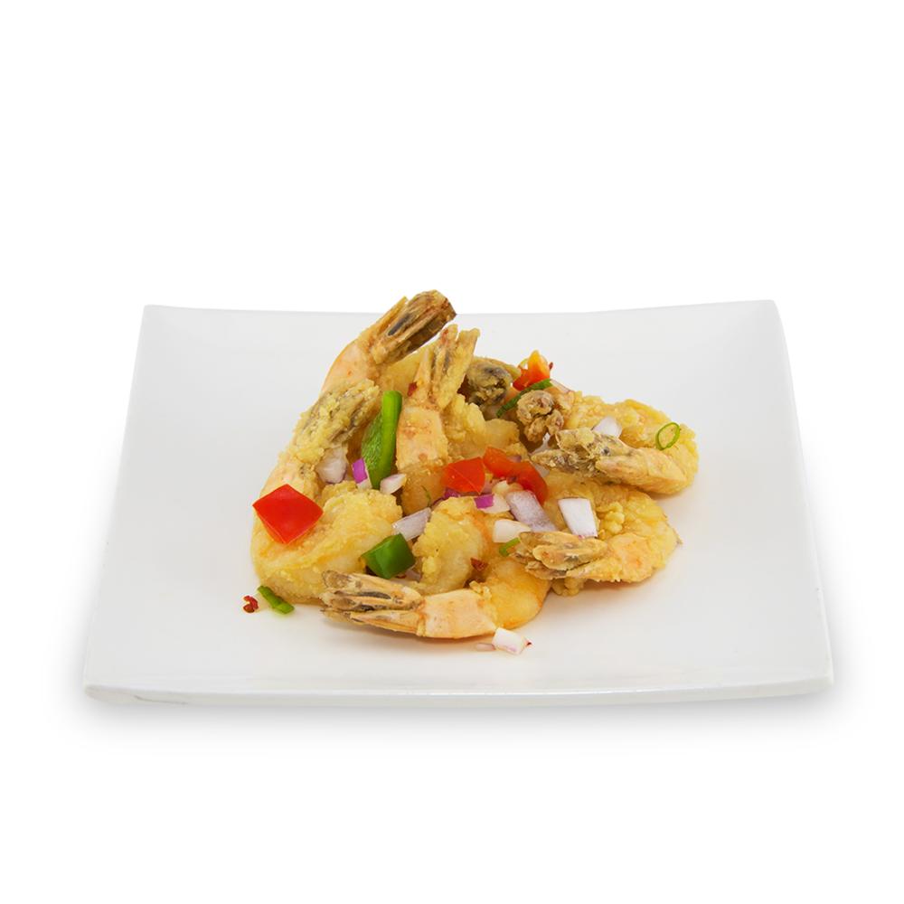 Crevettes ou (Poulet) croustillantes à l'ail -
