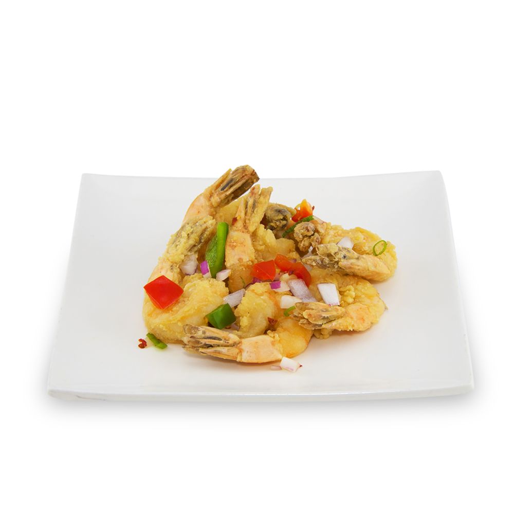 Crispy garlic shrimps or (chicken) - (chicken)