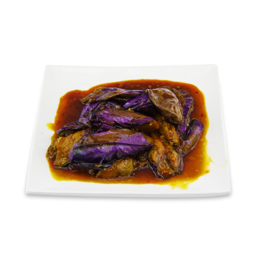 Eggplants with garlic -