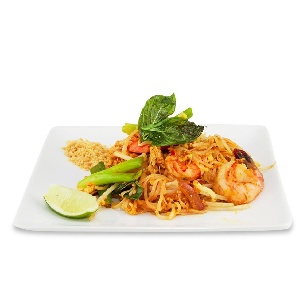 Pad Thaï - A ) LégumesB ) PouletC )BœufD ) Crevettes