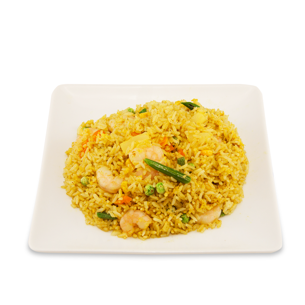 Fried rice with shrimps and pineapple -