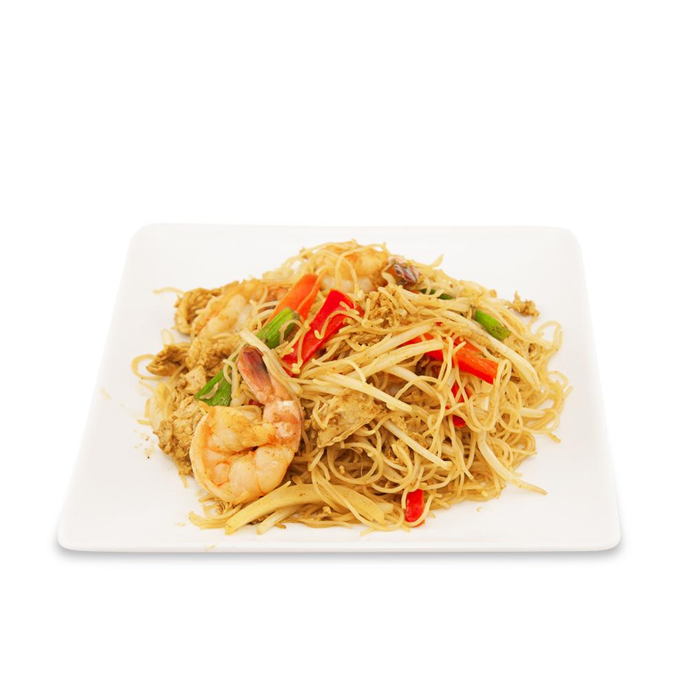 Singapore noodles - A ) VegetablesB ) ChickenC )Shrimps