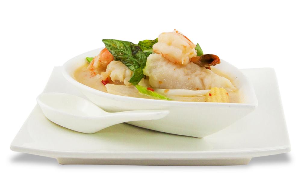 Sauce Thaï coco-basilic style maison - A ) LégumesB ) PouletC )BœufD ) CanardE )Fruit de mer