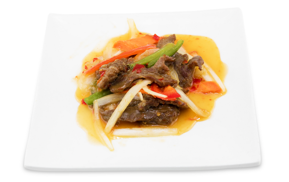 Rainbow beef (thai sweet and sour sauce) - (thai sweet and sour sauce)