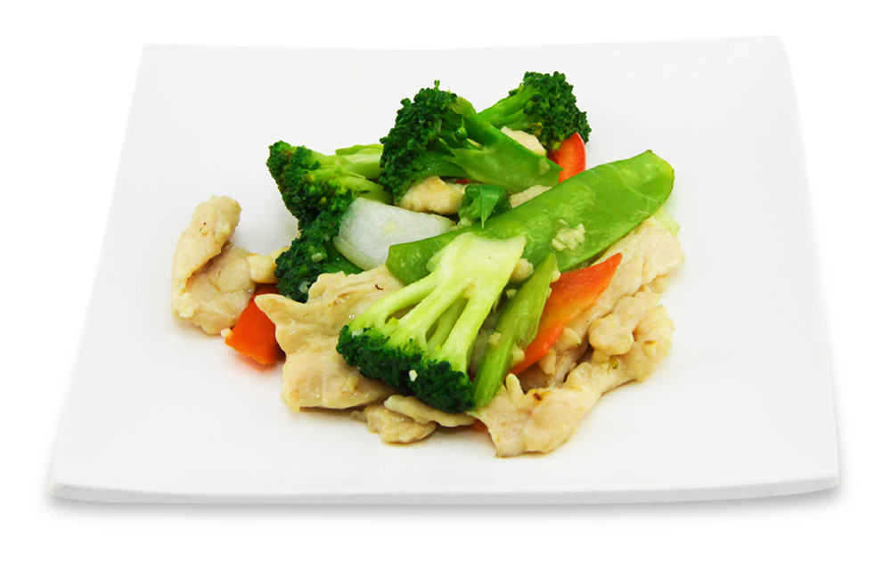 Chicken mixed with vegetables -