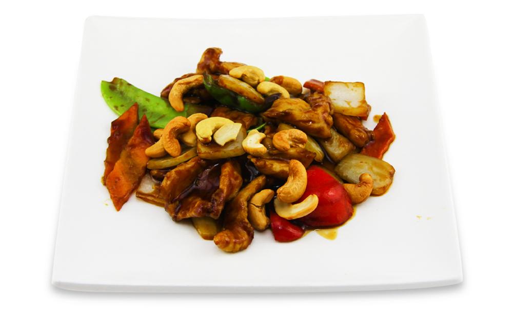 Poulet aux noix d'acajou style thaï -