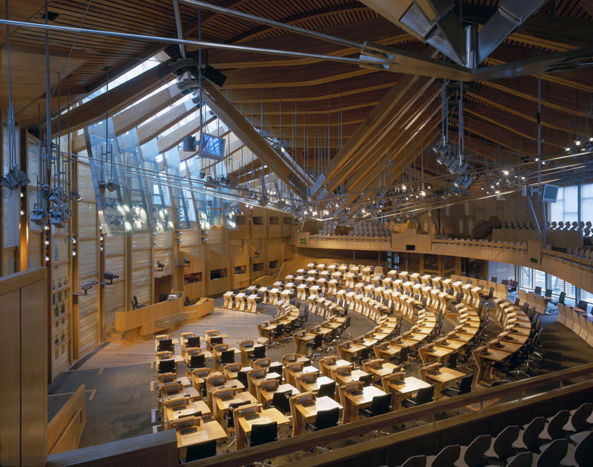 The Scottish Parliament   EDINBURGH, SCOTLAND ARCHITECTS: ENRIC MIRALLES BENEDETTA TAGLIABUE