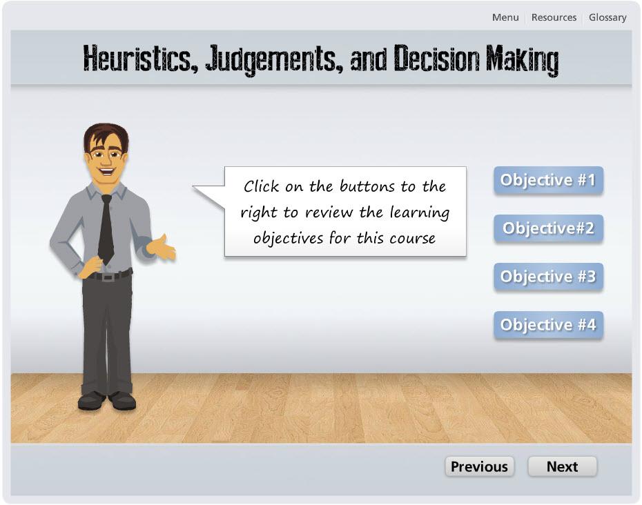 Storyline: Heuristics Course