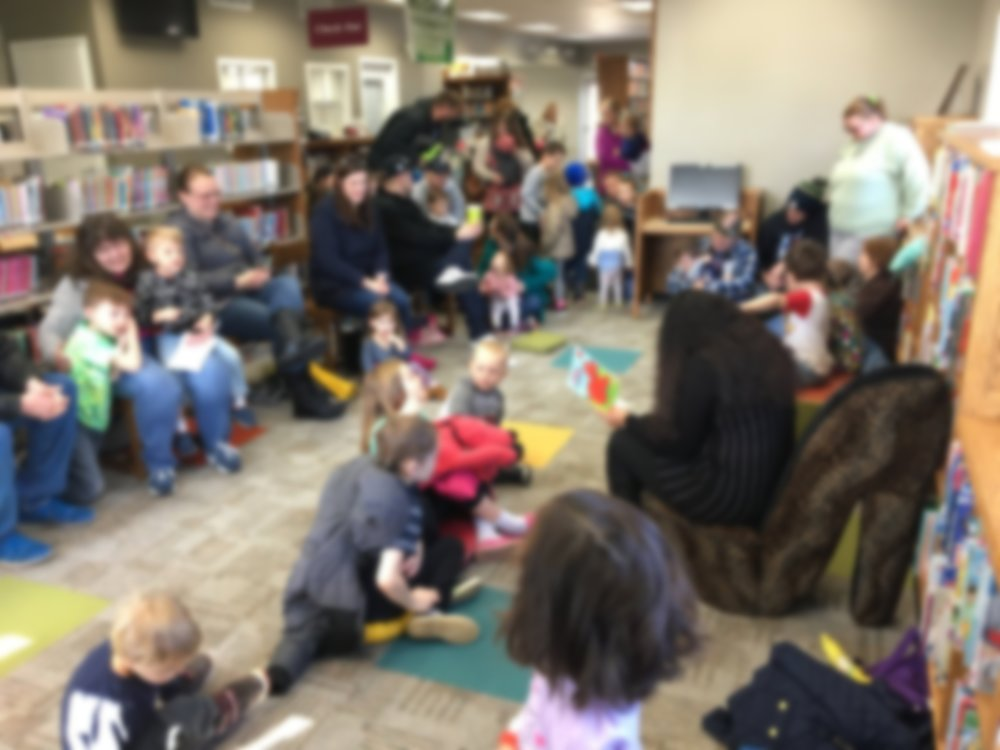 Benton-Potterville District Library, image blurred to protect identities