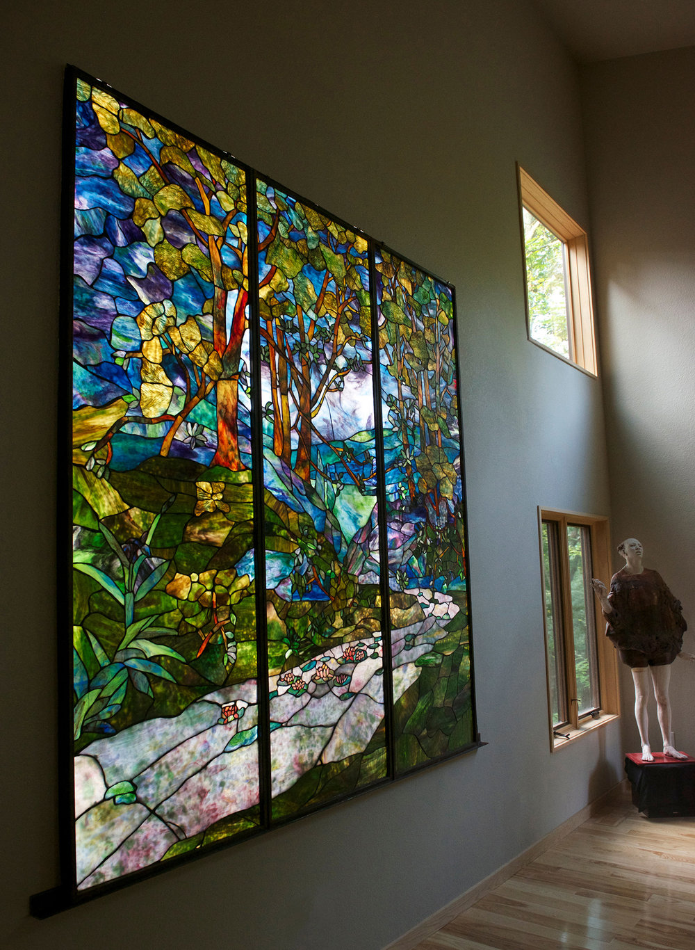 Backlit Stained Glass, Artwork by Ted Gross