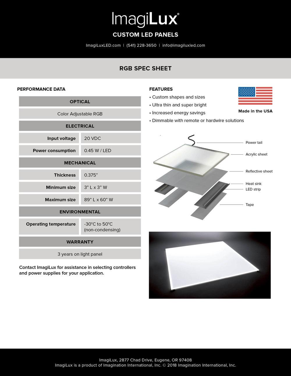 RGB Panel Spec Sheet -