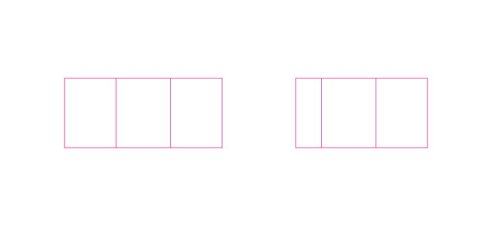 Cutters  -  Left:  Standard size label.  Right:  Smaller on one side.