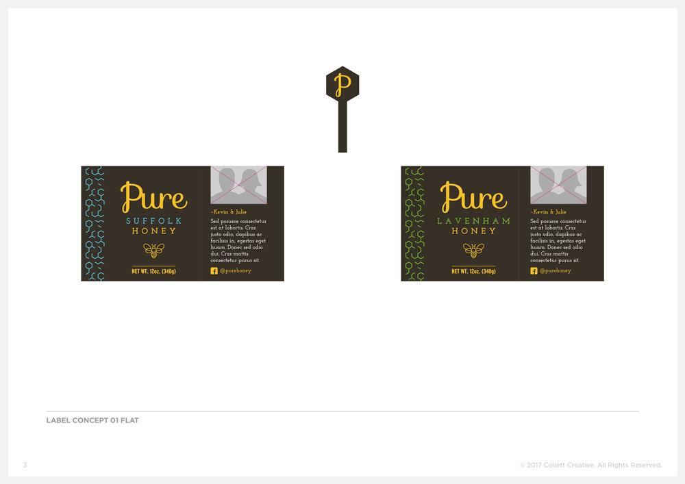 Concept No. 1  - Honey Jar Labels and Tamper Seals.