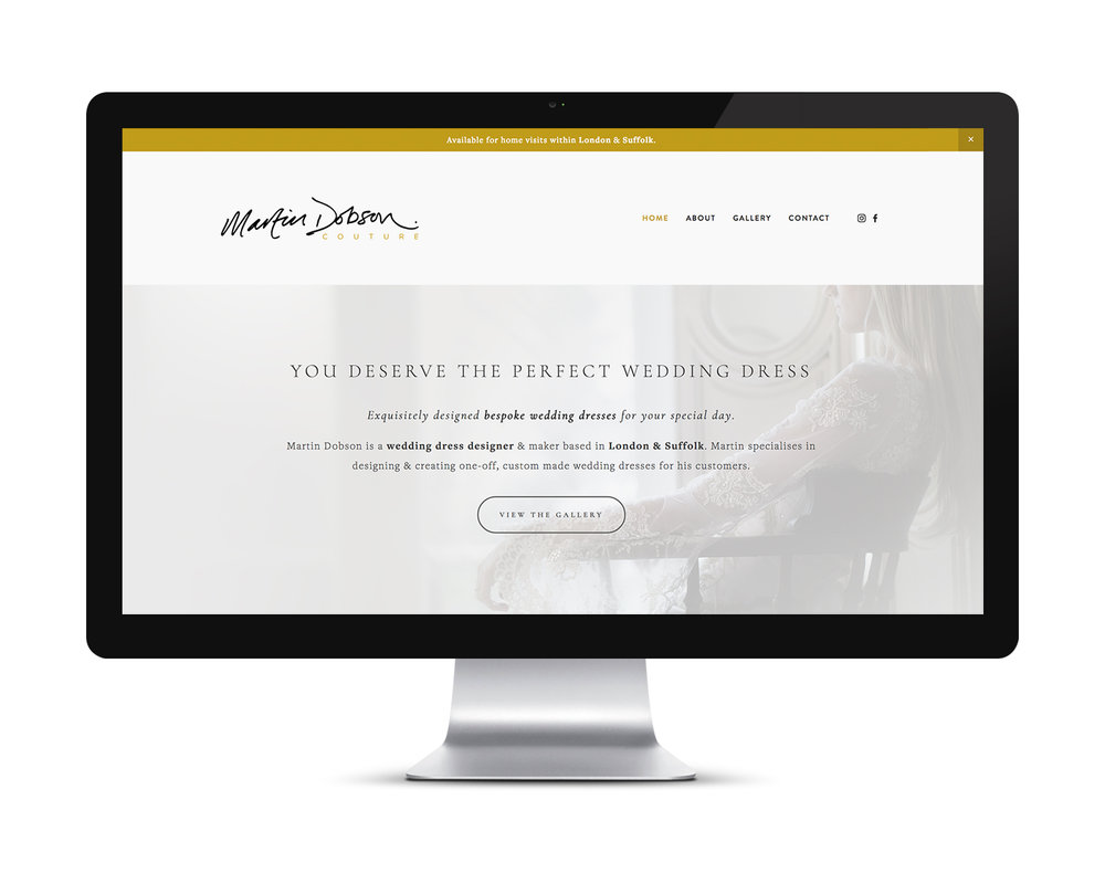 New website design and build for Martin Dobson Couture.
