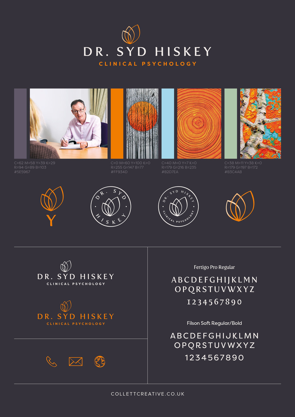 Brand Board for Dr. Syd Hiskey (Negative)