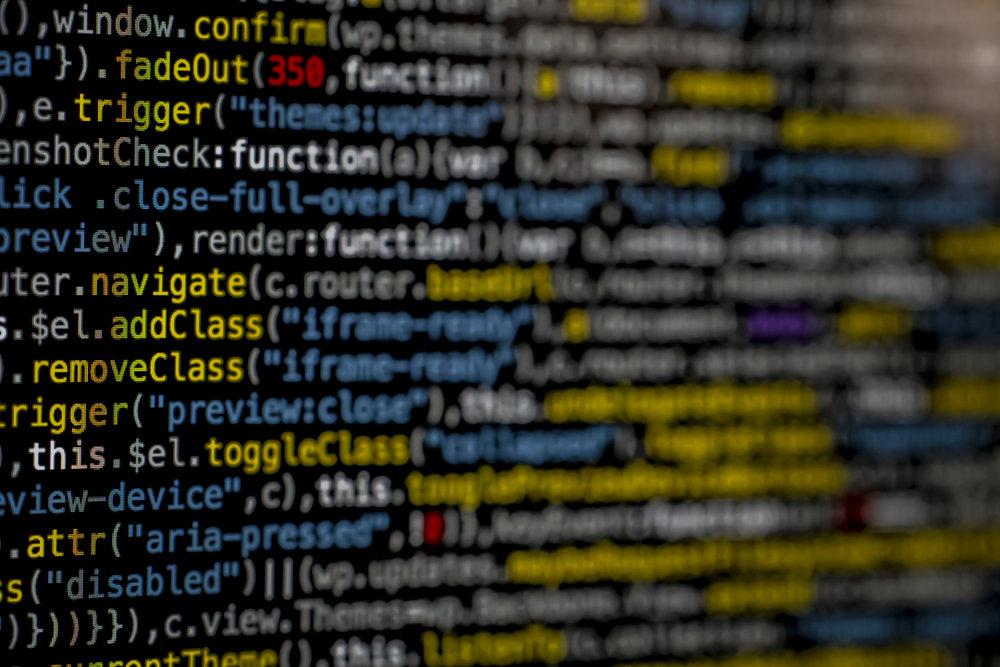 Image of website code.