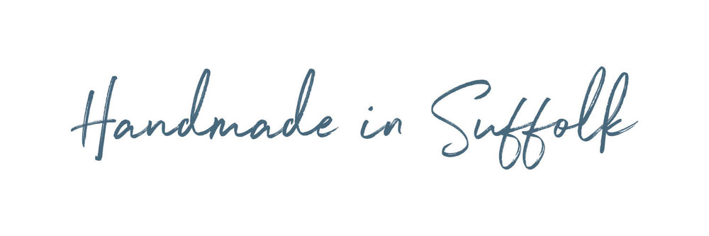 Image of the 'Handmade in Suffolk' script font for AJB Joinery Ltd website design.