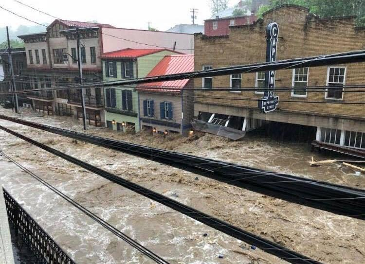 Ellicott City flash flood 2018 via Just In Weather