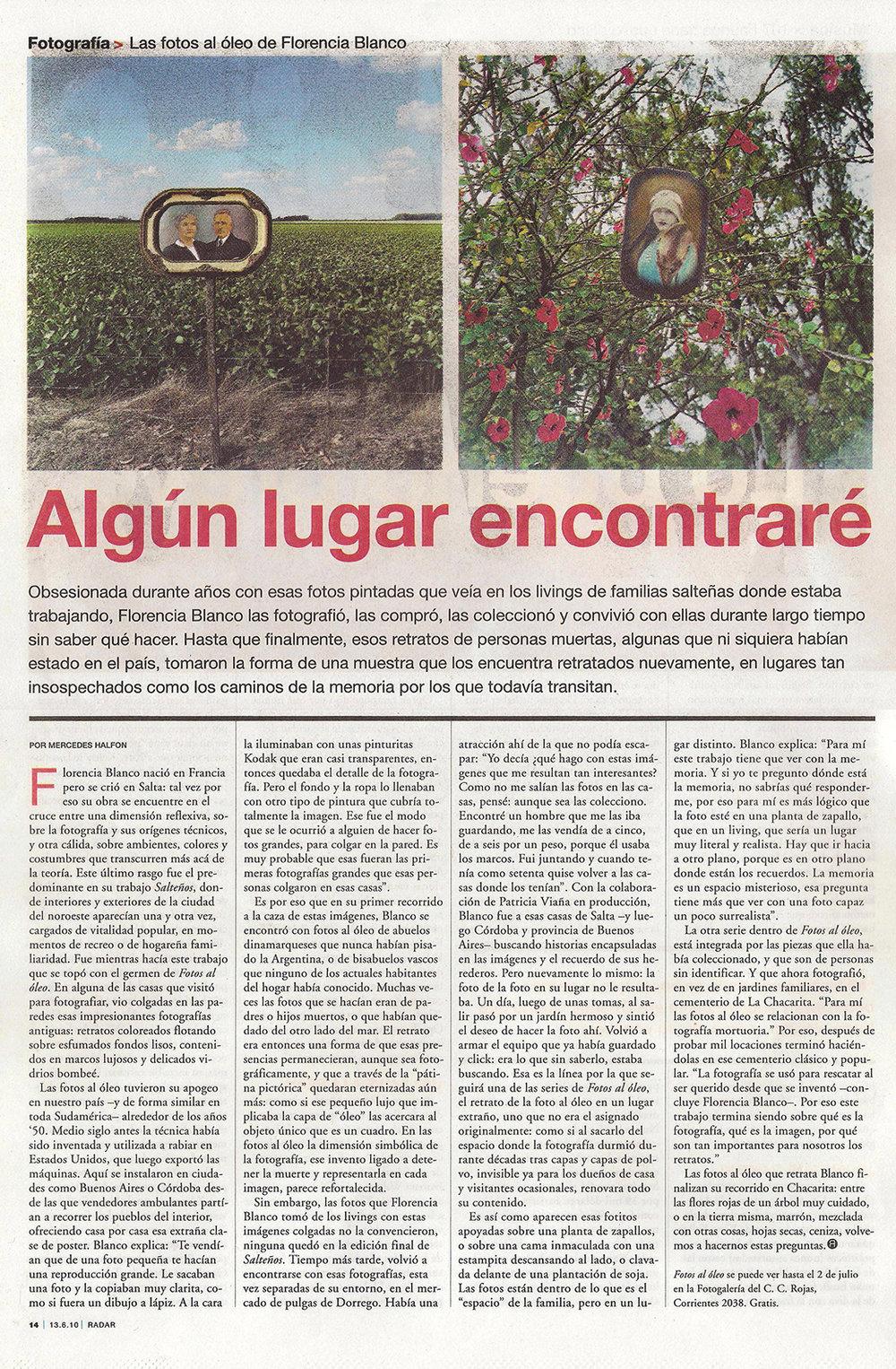 <strong>Diario Página 12</strong> 2010