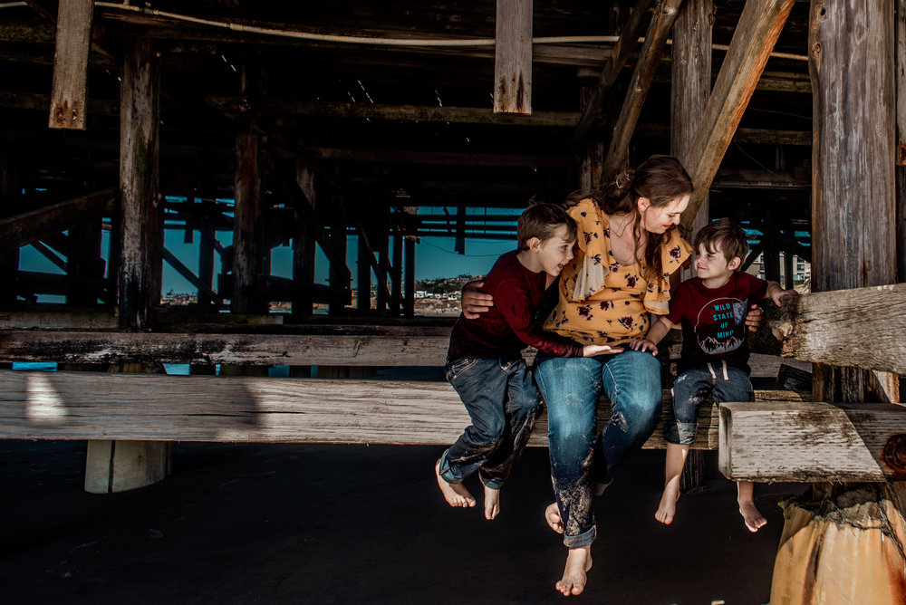 PB Pier Family Session Violets and Clementines Photography  San Diego