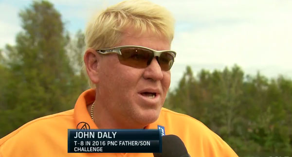 "Interview: John Daly  - John Daly talks about teenage son Little John Daly getting ""fired up"" to play in a field with some of the most decorated Major Champions."
