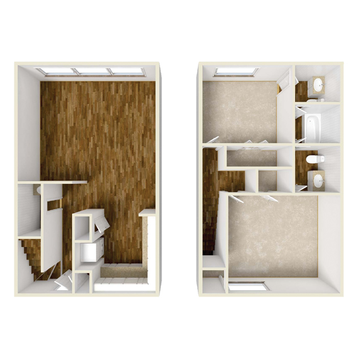 2 Bed 1.5 Bath - Townhome