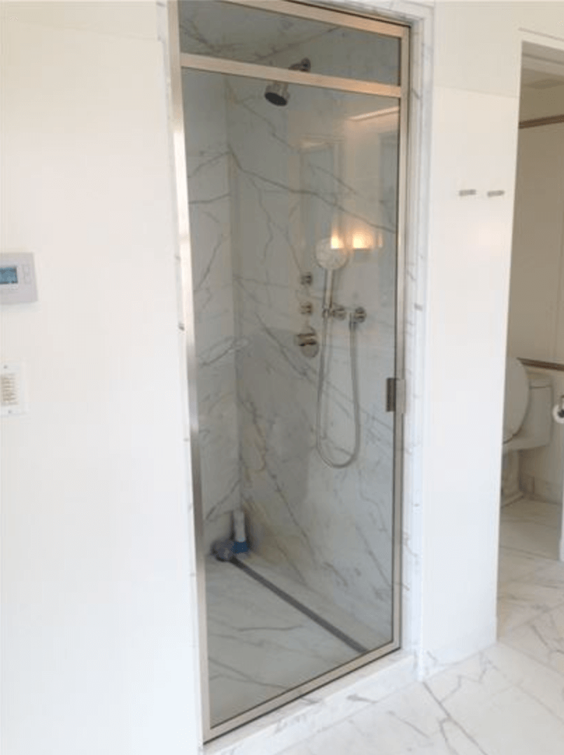 Single Glass Panel Shower Door