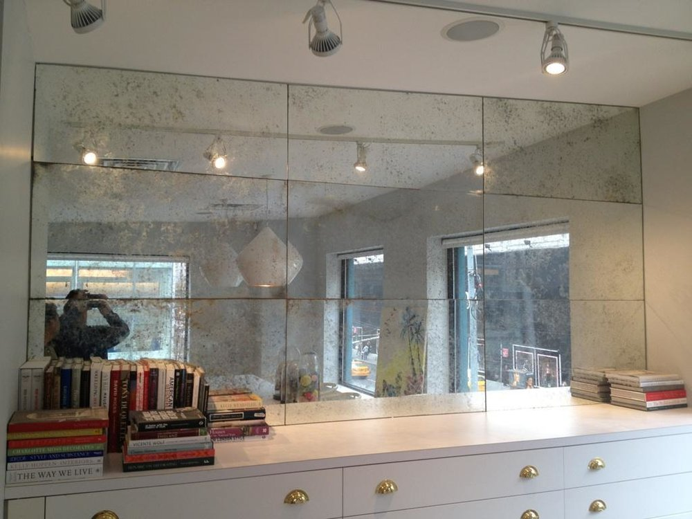 Paneled Vanity Mirror