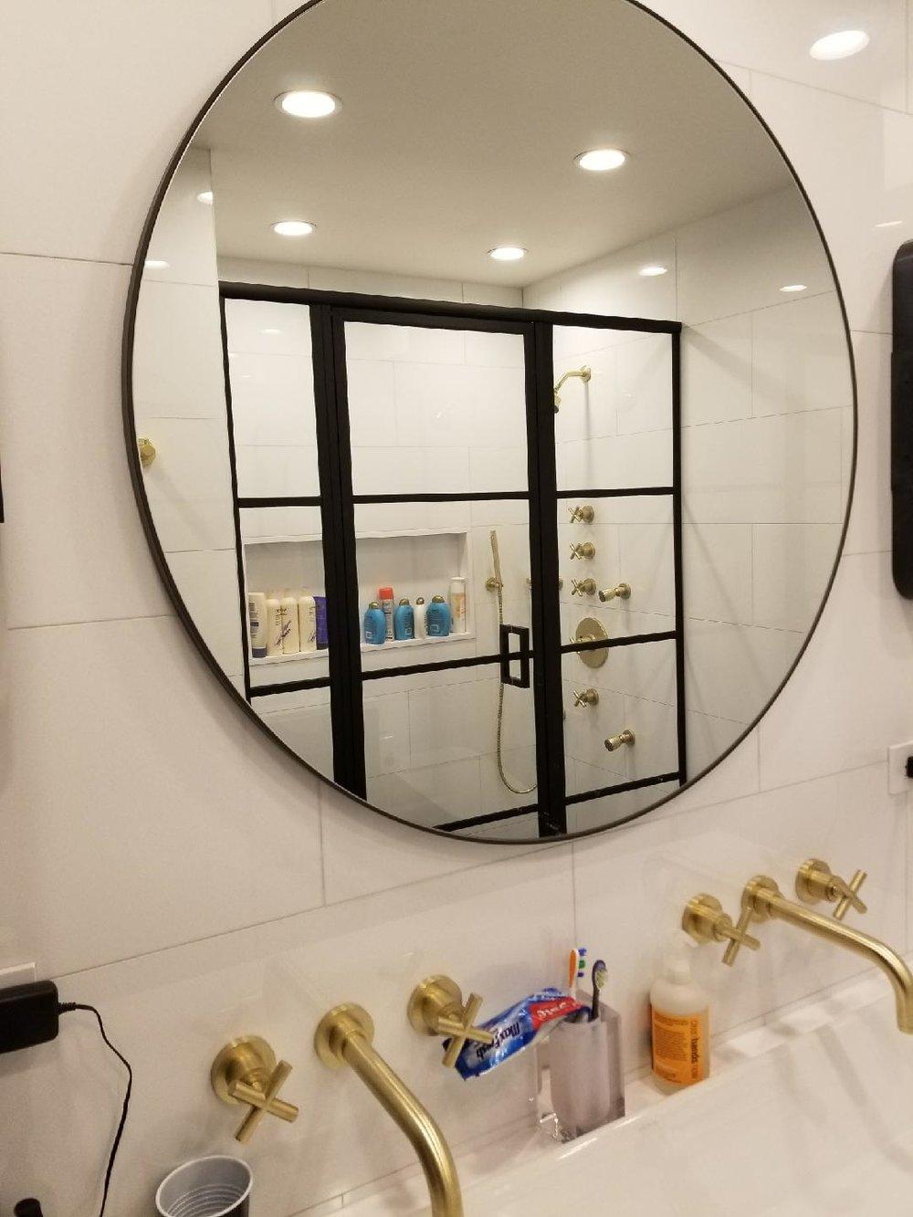 Matching MIrror and Shower Door